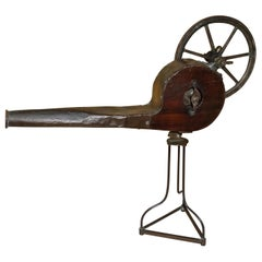 English Nineteenth Century Mahogany and Brass Mechanical Bellows