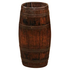 English Oak and Brass Barrell, Late 19th Century