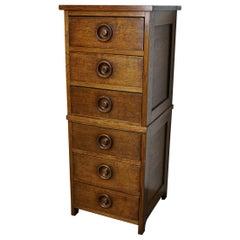 English Oak Apothecary Cabinet, 1930s