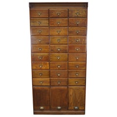 English Oak Apothecary Cabinet / Filing Cabinet, circa 1930s