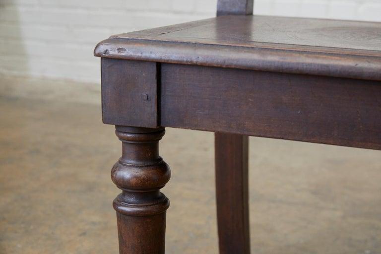 English Oak Bench Settle with Art Nouveau Panels For Sale 5