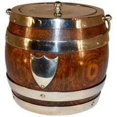 English Oak Biscuit Barrel, circa 1900