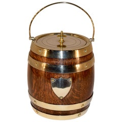 English Oak Biscuit Barrel, circa 1900