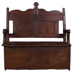 English Oak Box Settle
