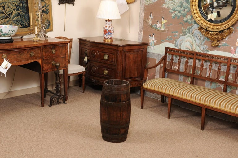 English Oak and Brass Barrell, Late 19th Century For Sale 6