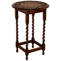English Oak Carved Occasional Table, circa 1900