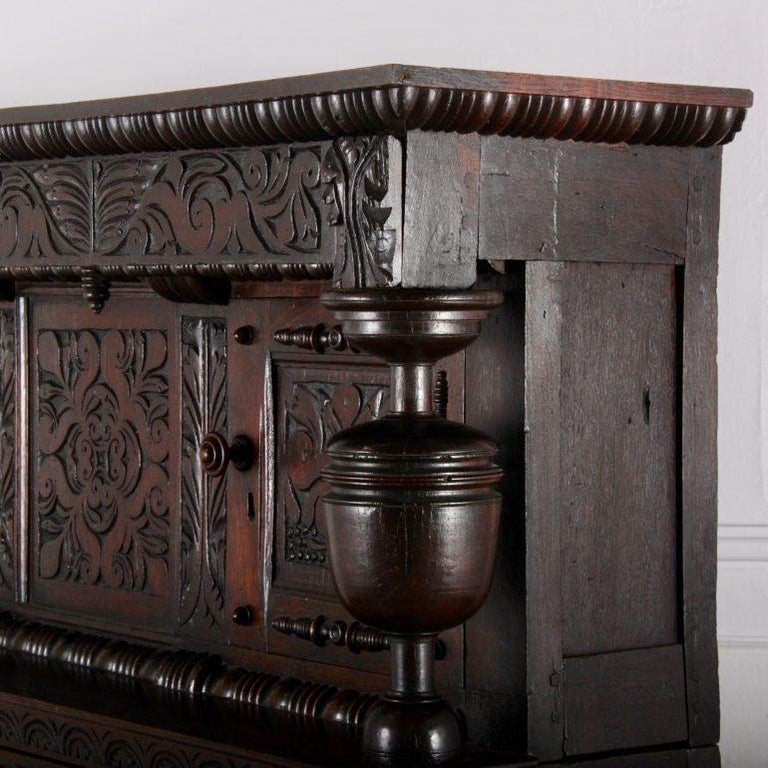 Late 17th Century English Oak Court Cupboard For Sale