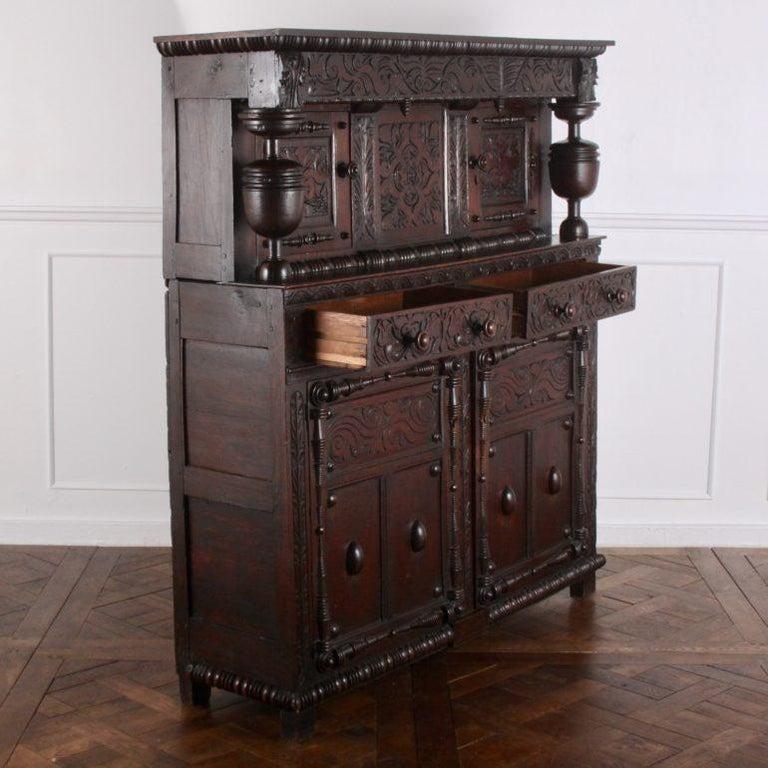 English Oak Court Cupboard For Sale 1