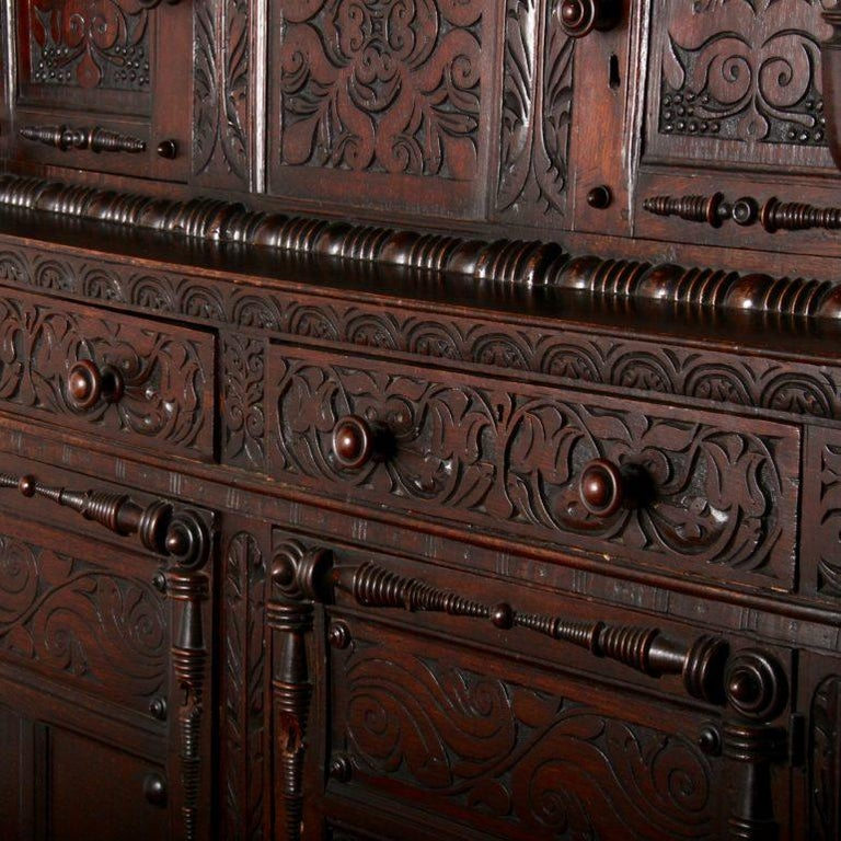 English Oak Court Cupboard For Sale 3