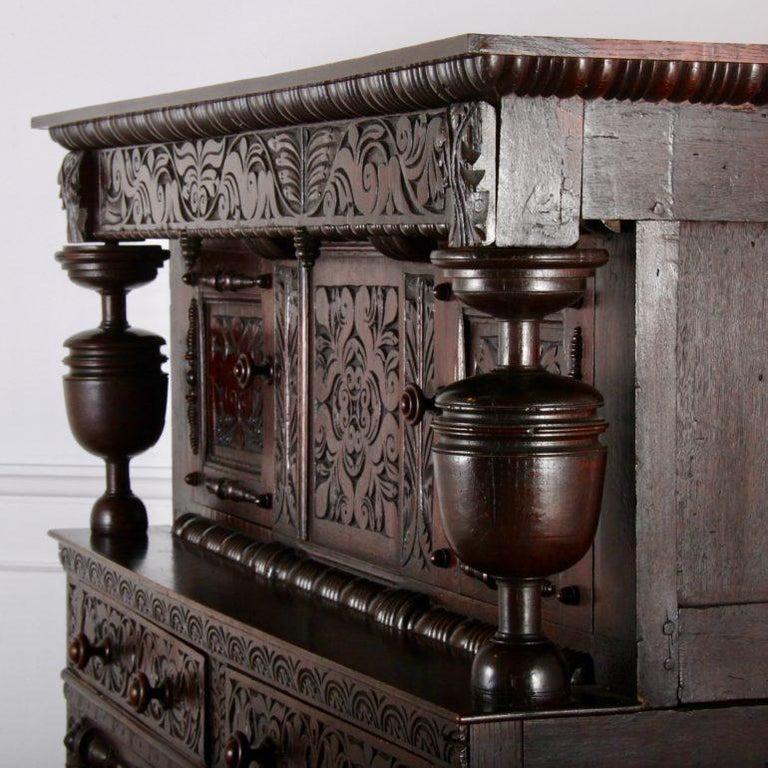 English Oak Court Cupboard For Sale 4