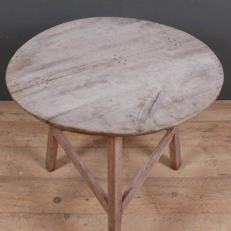 George III English Oak Cricket Table For Sale