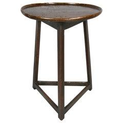 English Oak Cricket Table
