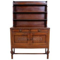 English Oak Dresser Arts & Crafts Country Drinks Cabinet