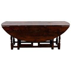 English Oak Gate Leg Dining Table