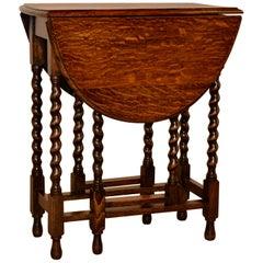 English Oak Gateleg Table, circa 1900