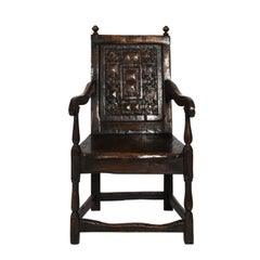 English Oak Jacobean Style Armchair