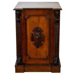 English Oak Pedestal Cabinet