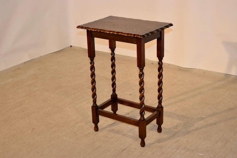 Edwardian English Oak Side Table, circa 1900 For Sale