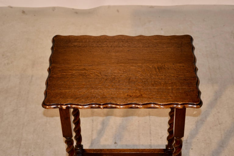 Early 20th Century English Oak Side Table, circa 1900 For Sale