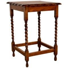 English Oak Side Table, circa 1900