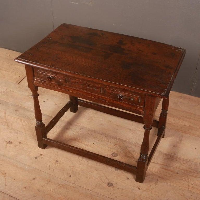 George III English Oak Side Table For Sale
