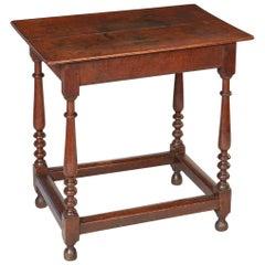 English Oak Stretcher Base Table