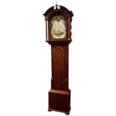 English Oak Tall Case Clock