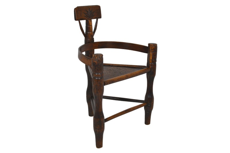 English Oak Turners' Chair, circa 1797 In Good Condition For Sale In Sint-Kruis, BE