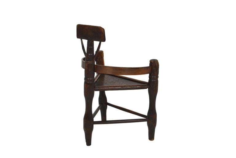 English Oak Turners' Chair, circa 1797 For Sale 1