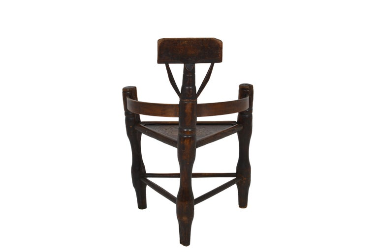 English Oak Turners' Chair, circa 1797 For Sale 2