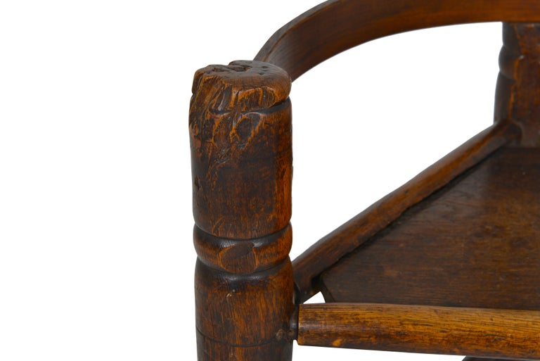 English Oak Turners' Chair, circa 1797 For Sale 4