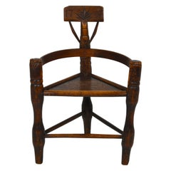 English Oak Turners' Chair, circa 1797
