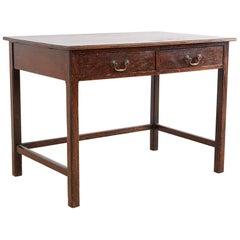 Englische Eiche 2-Schublade Tisch Schreibtisch