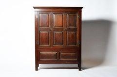 English Oak Wood Clothing Cabinet