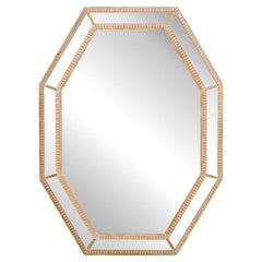 English Octagonal-Shaped Mirror, Mid 20th Century