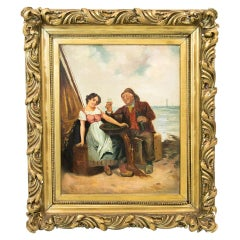 English Oil Painting on Artist Board