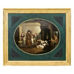 English Oil Painting on Tin