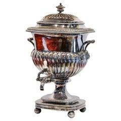 English Old Sheffield Large Silver on Copper Regency Tea Urn, 1820s