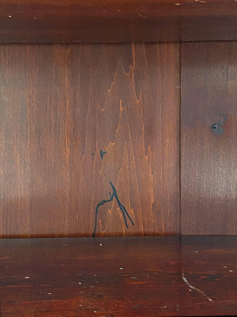 English Open Bookcase of Inlaid Mahogany from the Edwardian Period For Sale 10