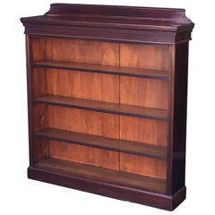 English Open Bookcase of Mahogany