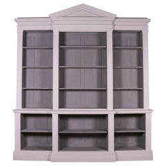 English Open Breakfront Bookcase