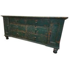English Original Painted Multi-Drawer Dresser Base