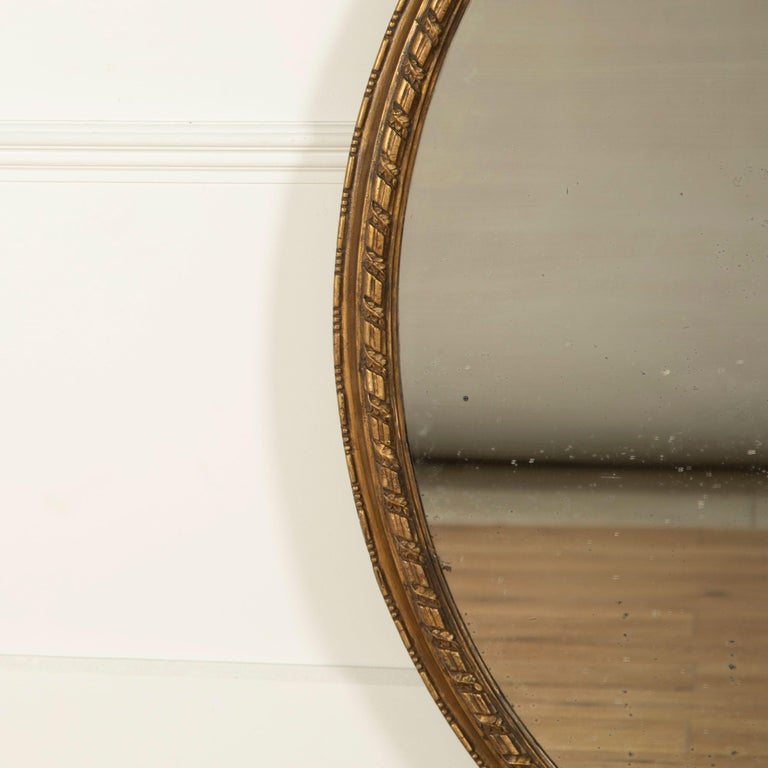 English Oval Gilded Mirror In Good Condition In Gloucestershire, GB