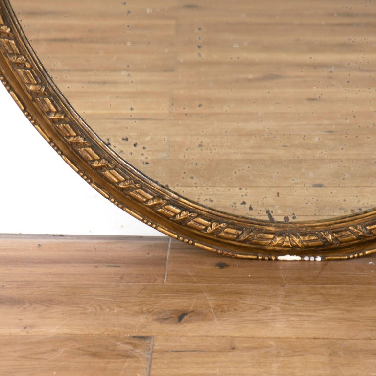 19th Century English Oval Gilded Mirror