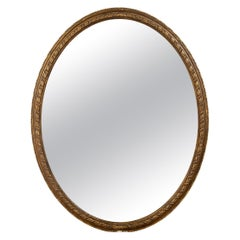 English Oval Gilded Mirror