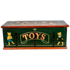 English Painted Blanket/Toy Chest
