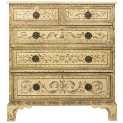 English Painted Chest of Drawers