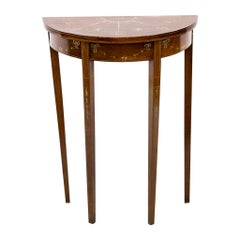 English Painted Demiune Mahogany Side Table
