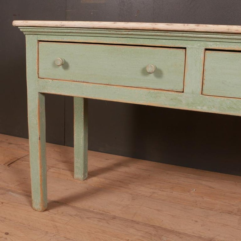 George III English Painted Dresser Base For Sale