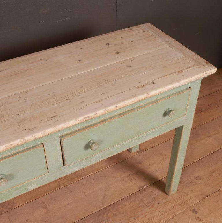 19th Century English Painted Dresser Base For Sale
